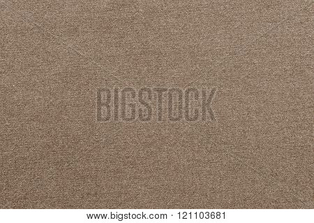 Textured Background From Textile Fabric Of Sepia Color