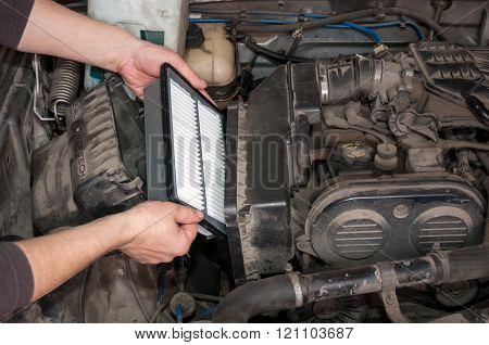Replacing the air filter car