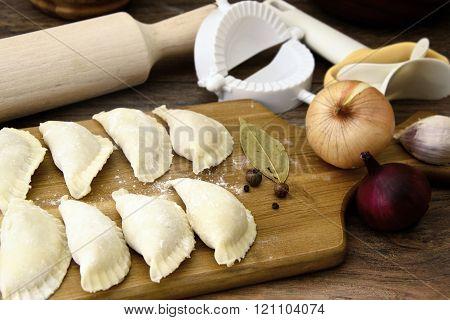 Raw Homemade Dumplings, Russian Pelmeni