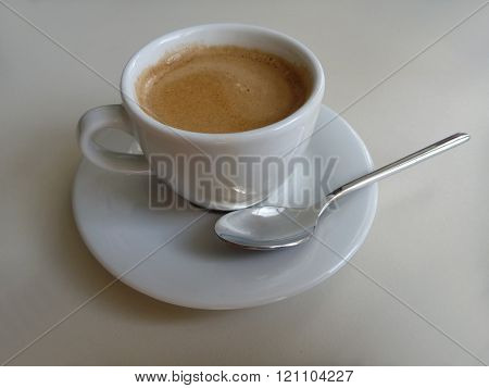 Cup Of Fresh Tasty Coffee