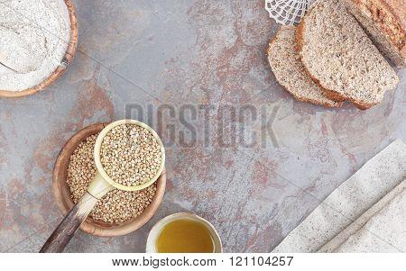Baking with buckwheat