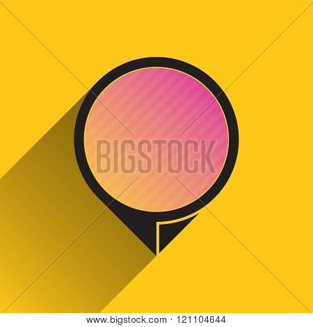 Map Pointer Icon On Yellow