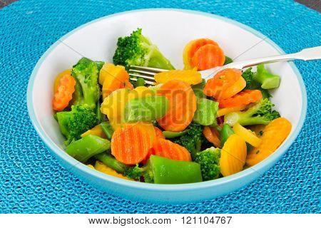 Steamed Vegetables Potatoes, Carrots, Corn, Green Beans, Onion