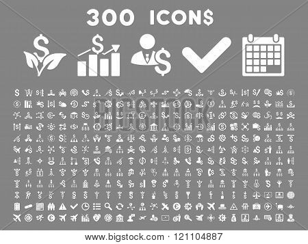 300 Flat Glyph Business Icons