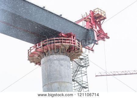 Bridge Construction Site In Nrw In Bestwig.