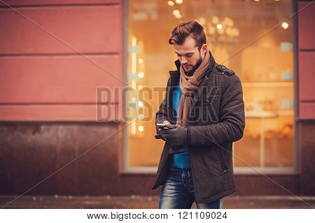 Stylish Man With A Smartphone