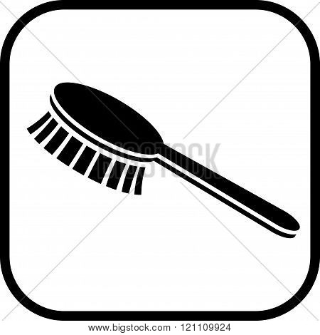 Brush fetlock vector icon