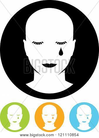 Crying face vector illustration