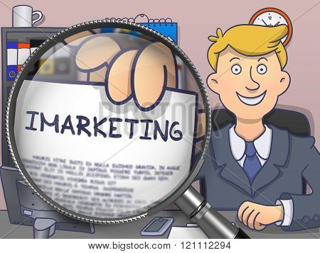 Imarketing through Magnifier. Doodle Style.
