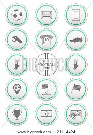 Soccer and sport icons set.
