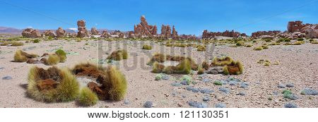 Rock Formation At Altiplano, Uyuni, Bolivia