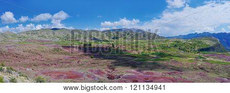 Crater Of Volcano Maragua In Bolivia. Panorama