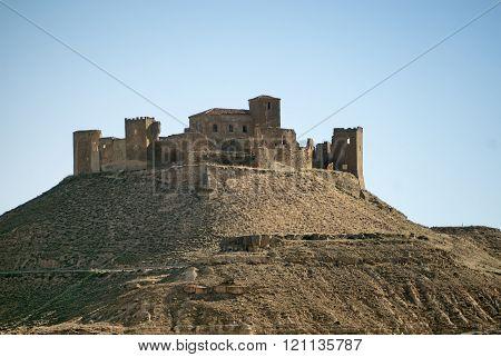 Ruins Of Fortress Near Huesca (aragon)