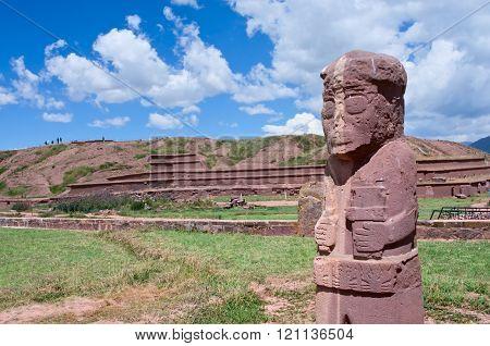 Tiwanaku. Ruins In  Bolivia,