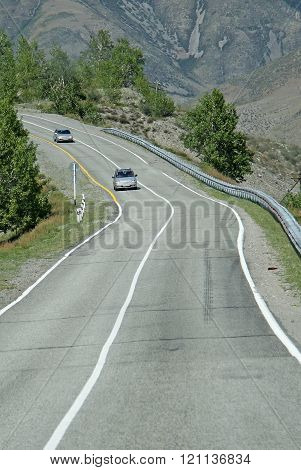 Siberia, Russia - June 10, 2012: Cars On The Russian Route M52 (r256), Also Known As Chuya Highway O
