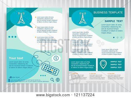 Transmitter Icon On Vector Brochure