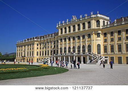 Vienna, Austria - April 26, 2013: Schonbrunn Palace In Vienna, Austria