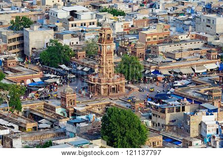 View of Jodhpur (Blue city) in Rajasthan, India