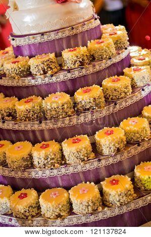 Wedding Cake Made With Cupcakes