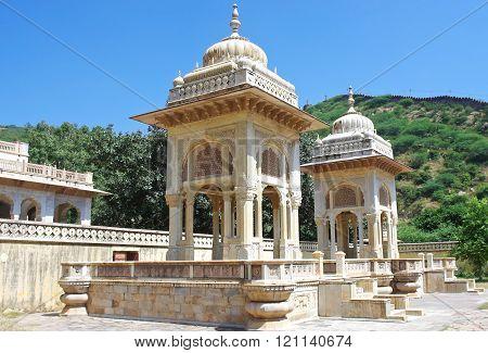 Maharaja Sawai Mansingh Ii, Museum Trust The City Palace . Gatore Ki Chhatriyan, Jaipur, India.