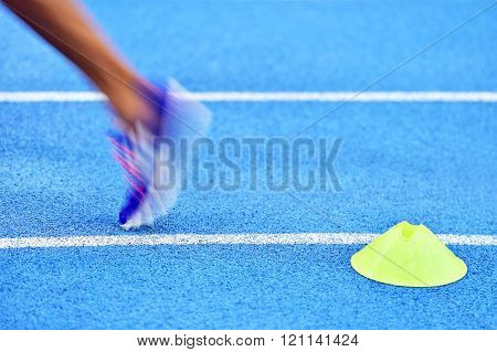 Athlete On The Sprint Track
