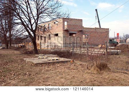 Construction Of A Brick Building