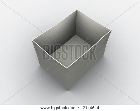 white empty box