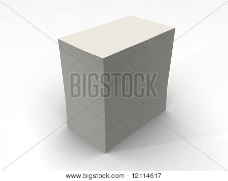 white closed box