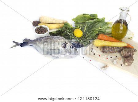 Fresh fishisolated on white  background