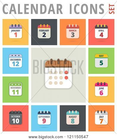 Calendar Icons set - Calendar Icons Vector - Calendar Icon Picture - Calendar Icon Graphic - Calendar Icon JPG - Calendar Icon JPEG - Calendar Icon EPS - Calendar Icon AI
