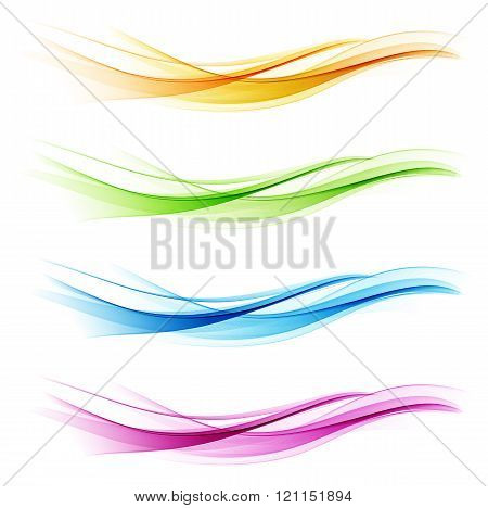 Set of abstract color wave