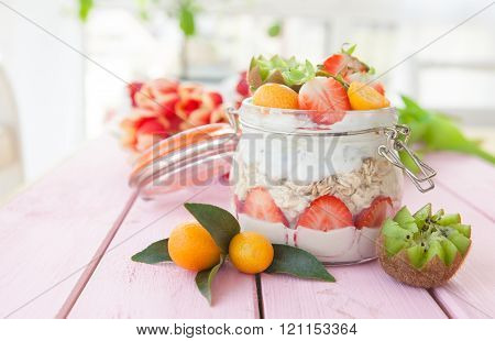 Porridge With Fruits And Yogurt