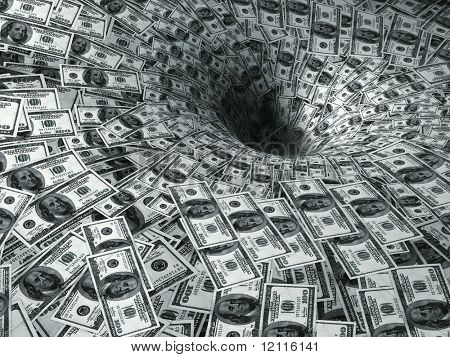 dollar flow in black hole