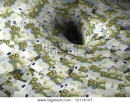 euro money flow in black hole