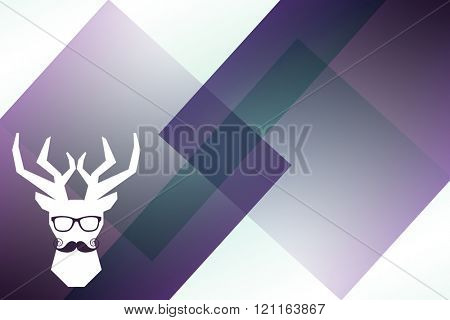 Mustache and glasses against colored background