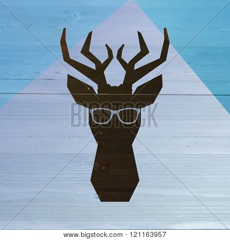 Black glasses against colored background