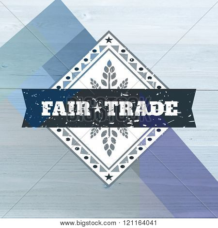 Fair Trade graphic against colored background