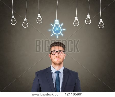 Businessman Bright Idea