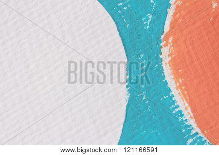Blue White and Orange Circle Design