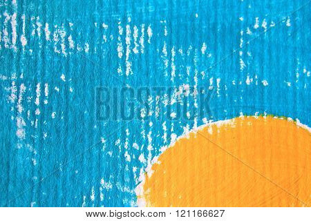 Blue and Yellow Circle Design
