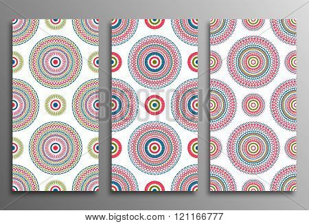 Set vintage universal different seamless eastern patterns (tiling)