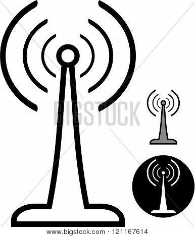 Radio translation. RTR tower - Vector illustration.
