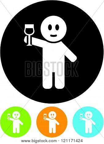 Man with Wineglass