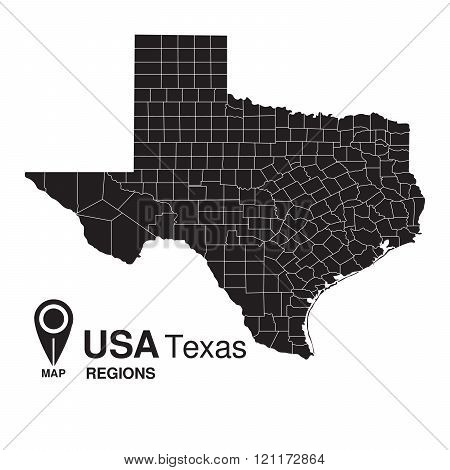 Usa Texas Regions Map