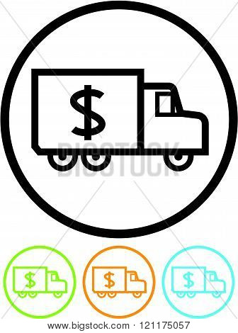 Truck with cash