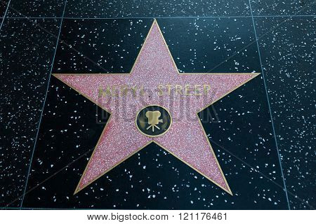 Meryl Streep Hollywood Star