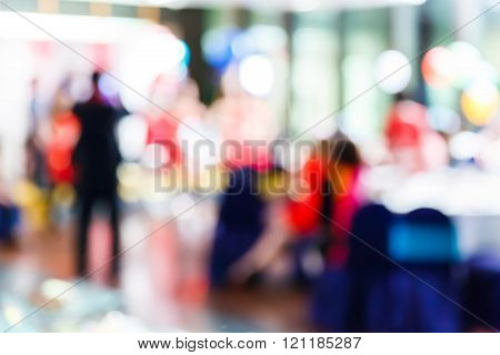 Blurred People In Party