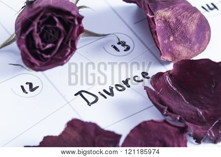 Concept Image For A Divorce