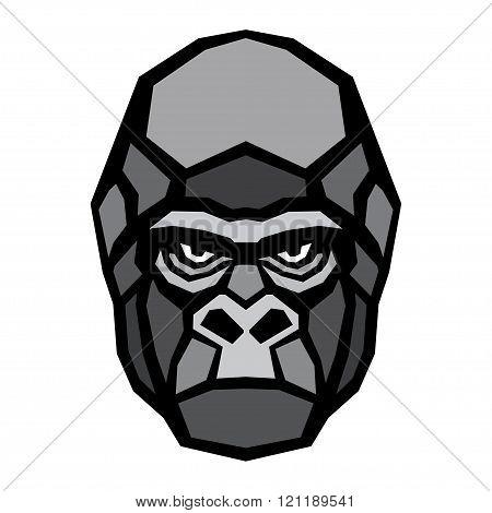 Gorilla ape head logo vector