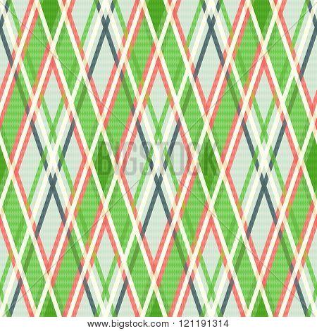 Seamless Rhombic Pattern In Warm Hues